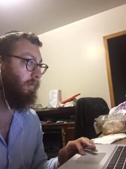 copywriter hard at work